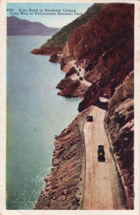 Auto road from Cody postcard