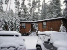 Our cabin in the snow.