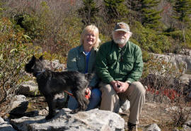 Al and sue at Dolly Sods with Rascal