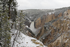 Lower Falls in the Snow