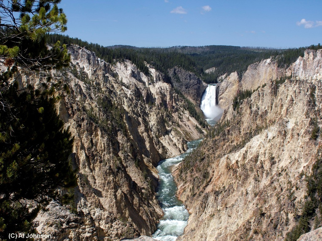 Lower Falls and the Yellowstone Grand Canyon