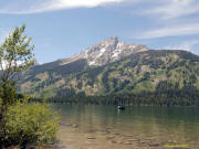 View across Jenny Lake in the Tetons