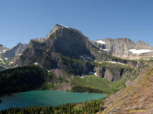 Grinnell Lake as seen from the trail to the glacier