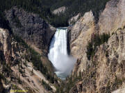 A close look at Lower Falls in the Yellowstone Grand Canyon.
