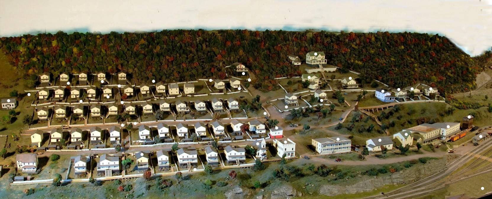 Cass Diorama of what the town used to look like